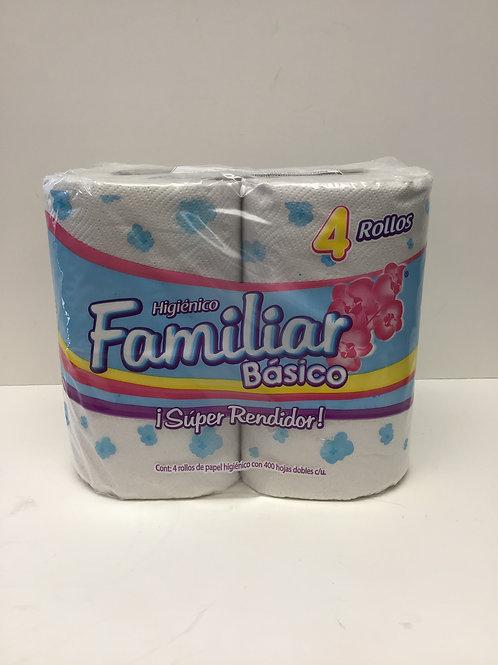 Higienico Familiar Basico Toilet Paper 4 rolls