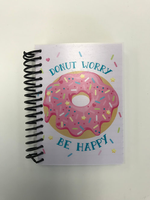 Paper Craft 160 Sheets Donut Spiral Notebook