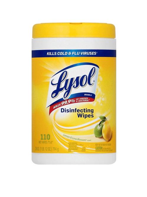 Lysol Disinfectant Wipes 110 Ct (Lemon& Lime Blossom Scent