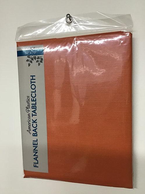 "American Plastics Flannel Back Tablecloth (Orange) 52"" X 70"""