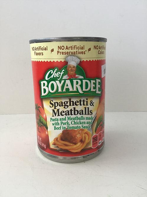 Chef Boyardee Spaghetti & Meatballs 14.5 Oz