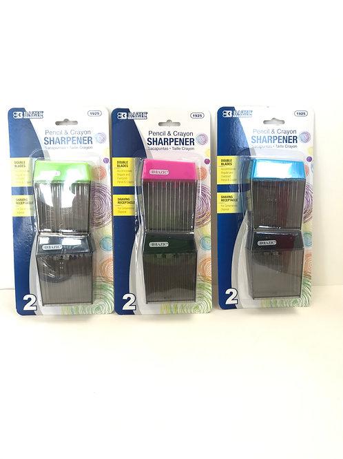 Pencil & Crayon Sharpener Assorted Colors