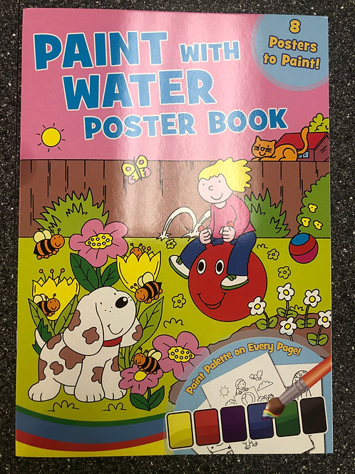 Paint with Water Poster Book
