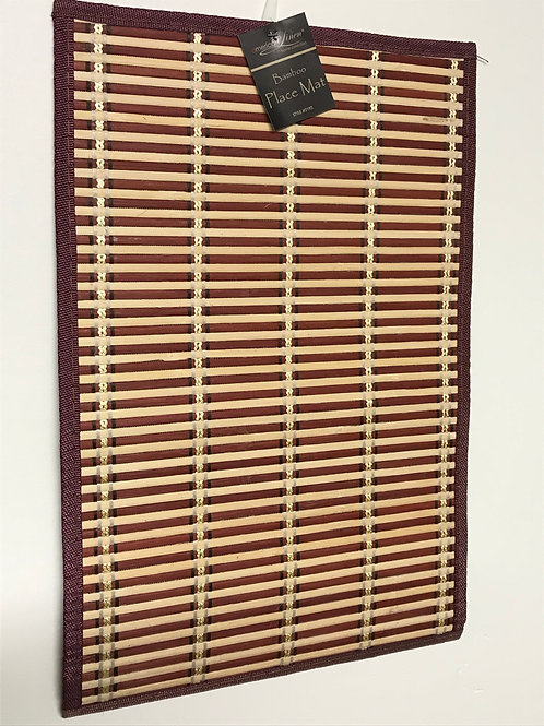 American Linen PVC Bamboo Placemats 4 pc (Brown)