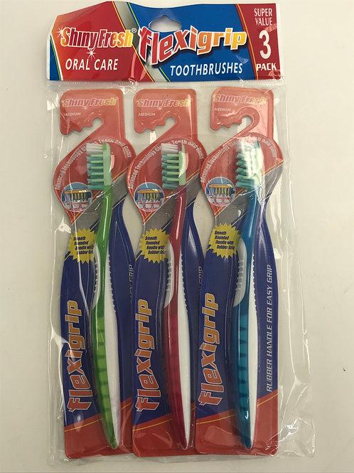 Flexgrip Tooth Brush 3pck