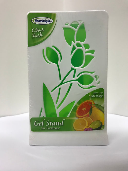 Homebright Citrus Fresh Gel Stand Air Freshener 5.3 OZ