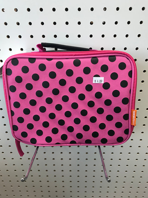 Pink Poker Dots Lunch Box