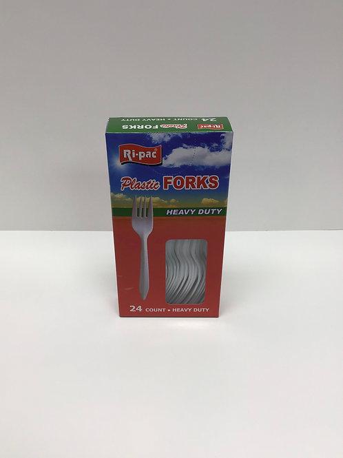 24 PK Plastic Forks