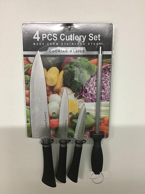 Cooking Basics 4 pc Cutlery Set