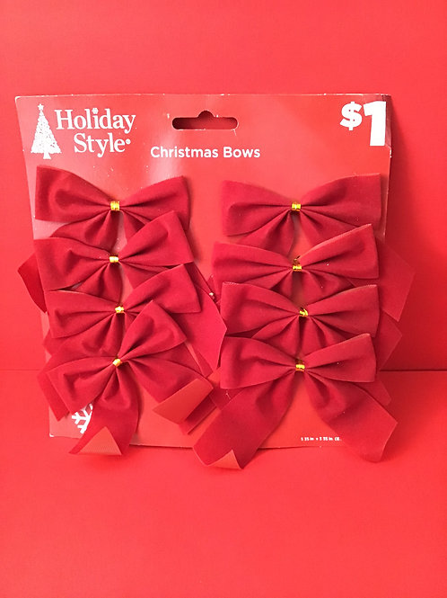 8 Pk Christmas Bows