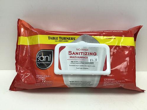 Table Turners Sani Professional Mult-Surface Sanitizing 72 Wipes
