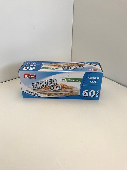 Ri-Pac Zipper Seal Bags Snack Size