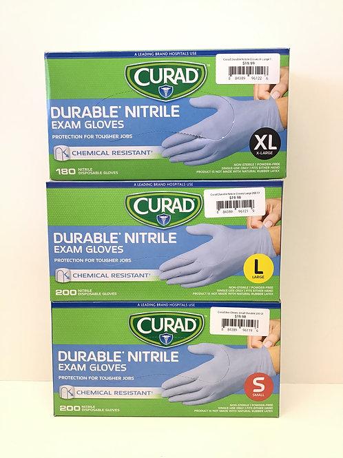 Curad Durable Nitrile Powder Free Gloves 200 ct