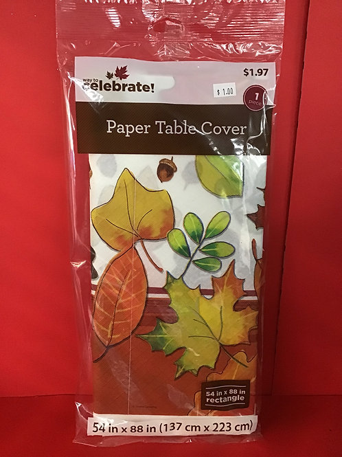 Thanksgiving Activity Table Cover 54 in X 88 in