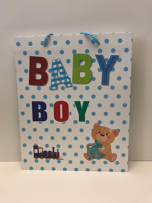 Baby Boy Medium Gift Bag