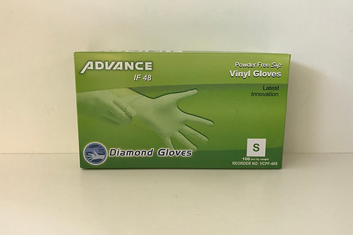 Advance Vinyl Powder Free Gloves (Small) 100 ct