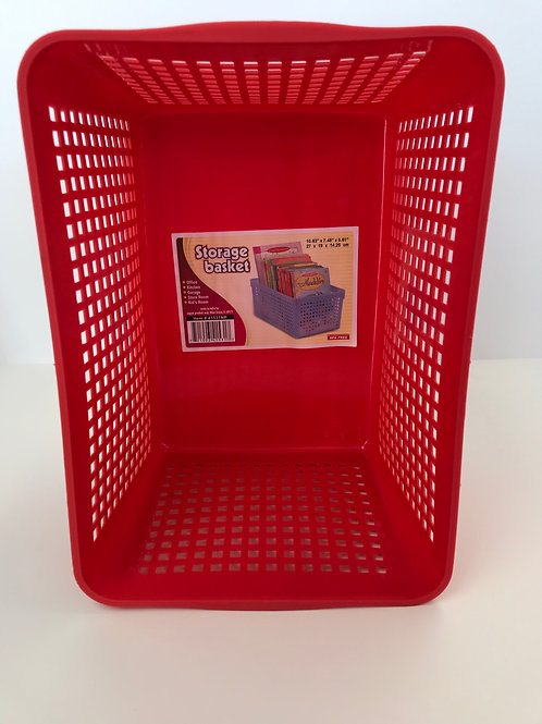 Storage Basket Assorted Colors 10.63 in X 7.48 in X 5.61 in