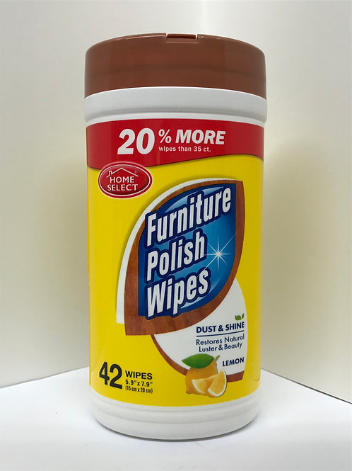 Home Select Furniture Polish Wipes (42 Wipes)