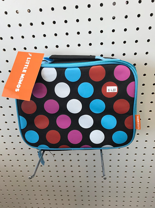 Black Colorful Poker Dots Lunch Box