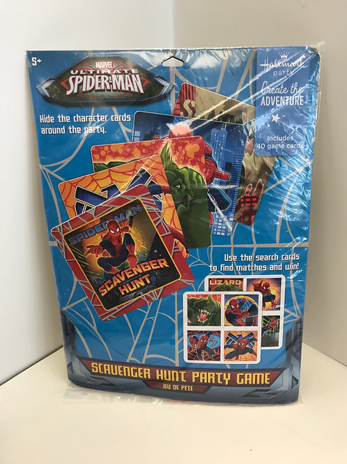 Spiderman Scavenger Hunt Party Game