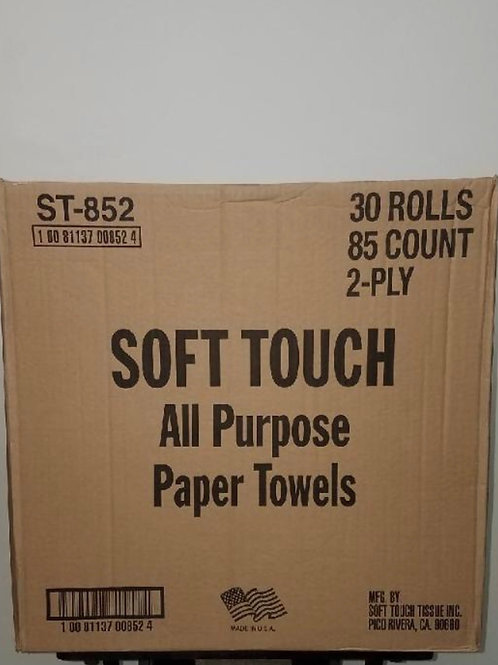 Soft Touch 30 Rolls 2 Ply Paper Towels