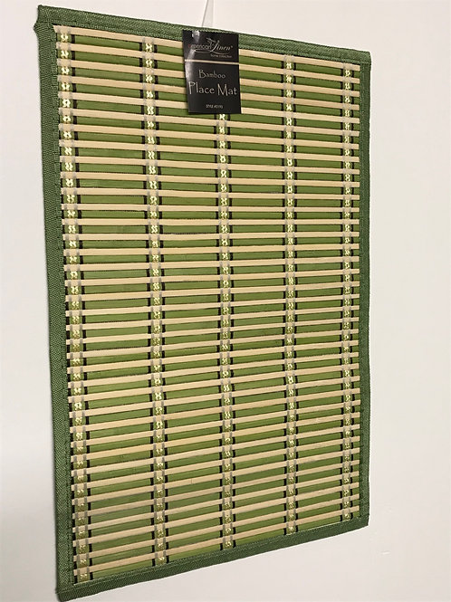 American Linen PVC Bamboo Placemats 4 pc (Green)