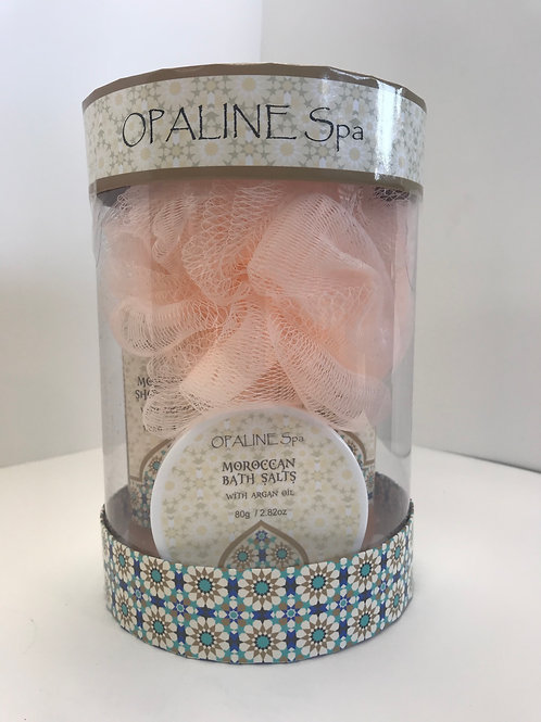 Opaline Moroccan w/ Argan Oil & Bath Salts Bath Set
