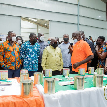 1D1F: President Akufo-Addo Inspects Work On 95% Complete Central Oil Mills (Pics)