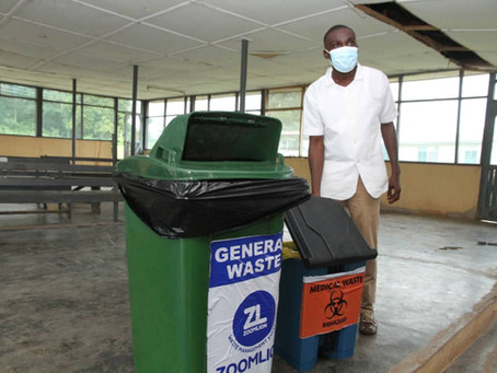 """""""Bins At Vaccination Centres Also Help Prevent Littering"""" —Sefwi Wiawso Municipal Health Director"""
