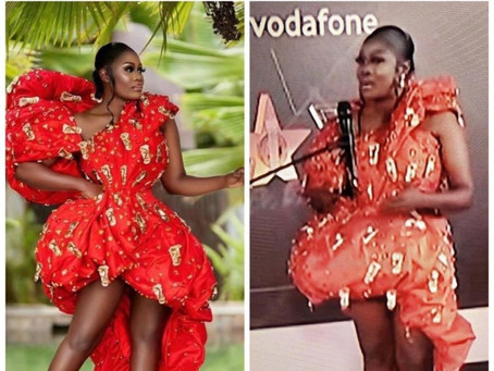 VGMA22: The Red Carpet Queen, Nana Akua Addo Fails To Impress (Pictures)