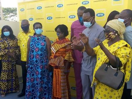 WATCH: Ursula Partners MTN Ghana To Commission Robotics, E-Library And ICT Centre At Ebenezer SHS