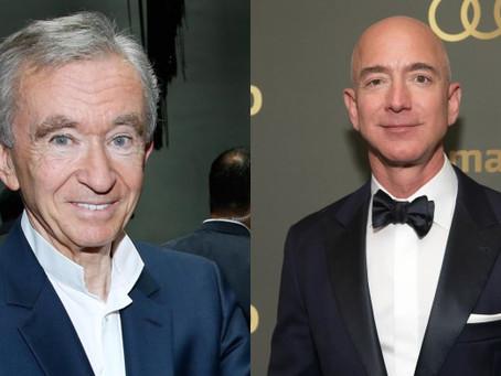 Bernard Arnault Overtakes Jeff Bezos To Become World's Richest Man