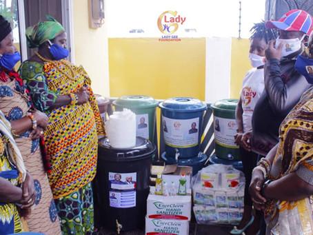 COVID-19: Lady Gee Foundation Donates To Ningo Prampram