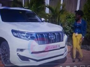 Dr. Kwaku Oteng Pulls Another Surprise, Gifts Ohemaa Woyeje, Tear-Rubber Toyota Prado (Video)