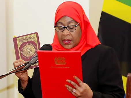 Tanzania's First Female President, Samia Suluhu Hassan Sworn In After COVID Sceptic's Death