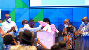 Okyeame Kwame And Wife Launch Maiden Love Book Dubbed 'Love Locked Down' (Pictures)