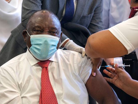 Ramaphosa Receives COVID-19 Vaccine As South Africa Launches Inoculation Drive