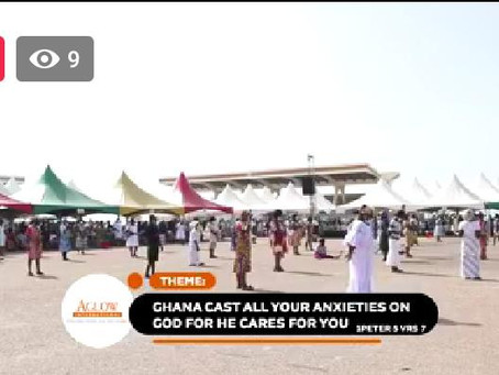 """LIVE: """"Ghana Cast All Your Anxieties On God For He Cares For You"""" – AGLOW GH International (VIDEO)"""