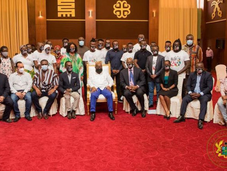 May 9 Stadium Disaster Victims Visit Akufo-Addo (Pictures)