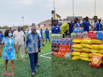 Trolling Mu Levels – Nana Aba Anamoah Donates to Great Olympics for Humbling Asante Kotoko (Pics)