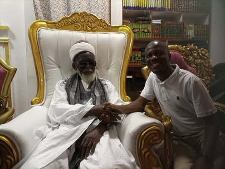 AYNMA PM, Ofori Gyebi Pays Courtesy Call On Chief Imam, Bridges Muslim-Christian Gap In Municipality