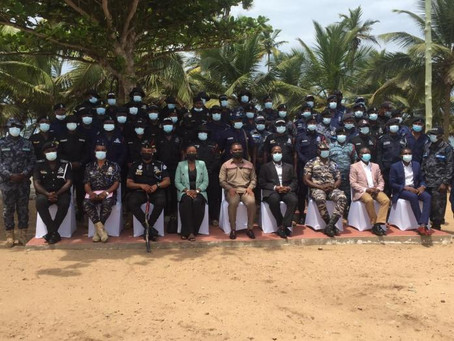 Ghana Commissions 202 Police Officers To Fight Illegal Mining (Pics)