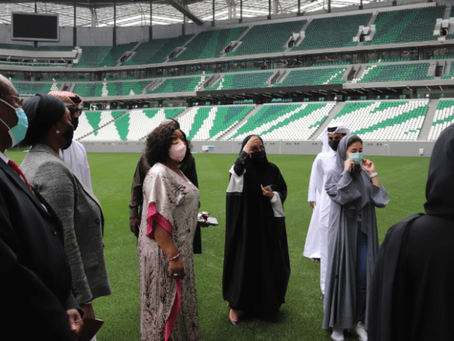 Ayorkor Botchwey Tours FIFA 2022 World Cup Stadium In Qatar (Pictures)