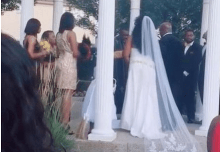 WATCH: Bride Cries As Estranged Woman Storms Her Wedding Claiming To Be Pregnant With Groom (Video)