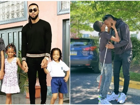 Watch: Singer Flavour Teaches His Children Igbo Language In An Adorable Video (VIDEO)