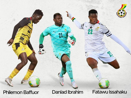 Three Ghana U-20 Players Earn Black Stars Call-Up