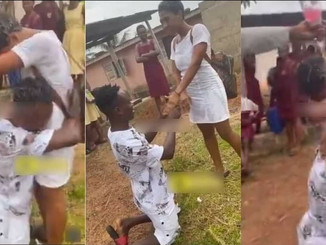 SHS Girl Shed Tears After Her Boyfriend Who Paid Her Fees Proposed To Her Right After WASSCE (VIDEO)
