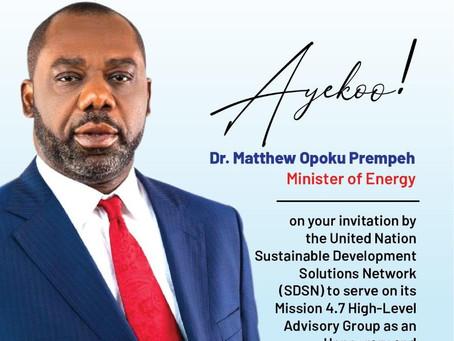 Dr. Matthew Opoku Prempeh Added To Prestigious UN Panel