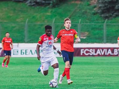 Francis Narh Scores In Slavia Mozyr's Home Defeat To Energetik-BGU In Belarus