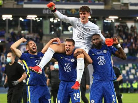 CHELSEA WIN SUPER CUP: Kepa Goes From Penalty Villain To Hero (Pics)